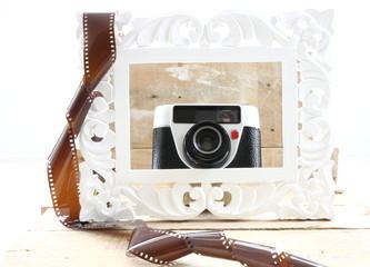 Photo frame & vintage camera