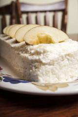 Torta di mele e panna montata