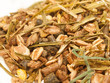 basic muesli  with herbs background for horse . macro