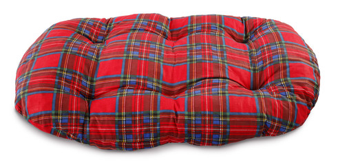 Dog pillow plaid pet bed