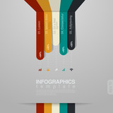 Infographics vector design template. Trendy style.