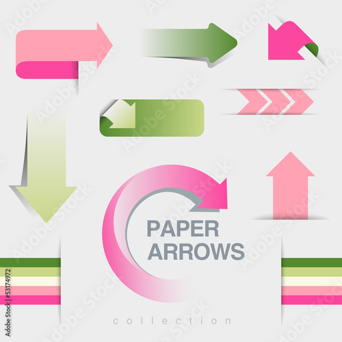 Arrows set. Use for infographics, business report, website etc.