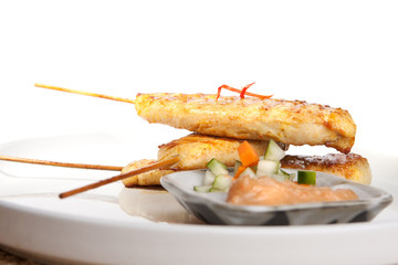 Chicken Satay Thai Appetizer