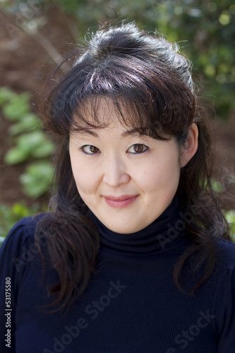 Candid portrait of Japanese woman
