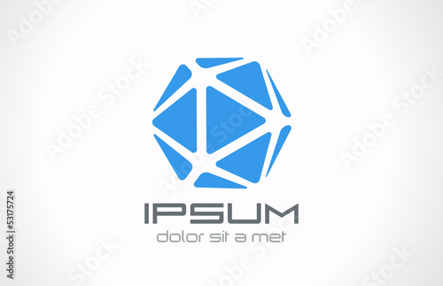 Logo crystal abstract. Jewelry concept. Vector. Editable.