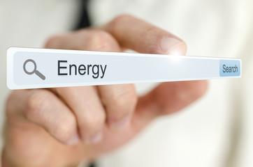 Word Energy written in search bar