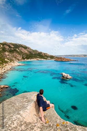 Bucht auf Spargi, Sardinien