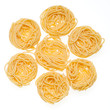 Collection of Italian Pasta isolated on white.