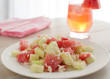 Summer watermelon and cucumbers salad