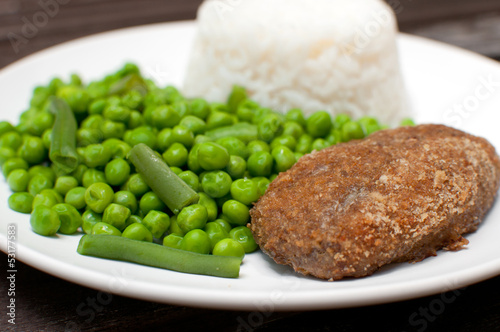 Chicken kiev or cordon bleu dinner