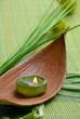 Wellness Grün Gras Kerze