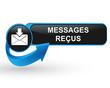 messages reçus sur bouton web design bleu