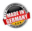 Icon Button Made in Germany bessere Typografie schwarz