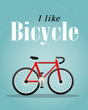 Bicycle Retro Illustration