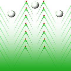 cartolina in sfondo verde
