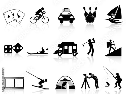 Leisure and Recreation icons set