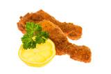 Hühnerbeine auf weißem Hintergrund