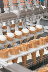 ice-cream on factory