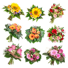 Blumensträuße, bouquets of flowers