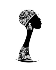 Female head silhouette for your design