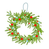 Christmas wreath sketch for your design