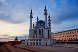Qol Sharif mosque in Kazan, Russia in the evening