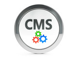 Black CMS icon with highlight