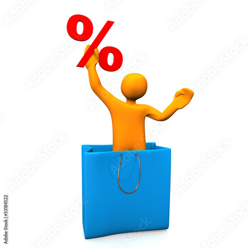 Manikin Percent Big Shopping Bag