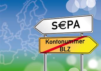 SEPA Start 2014, Schilder, BLZ