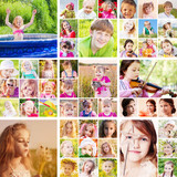 collage of children outdoor