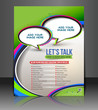 lets talk brochure, flyer, magazine cover & poster template