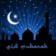 Eid Mosque Blue Night
