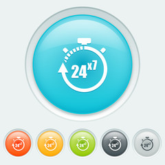 Service 24 hours for 7 days buttons