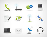 Detailed communication icon set