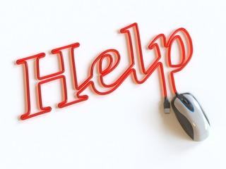Компьютерная мышь и Help