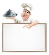 Chef cloche and menu
