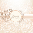 Wedding vector  design in vintage style