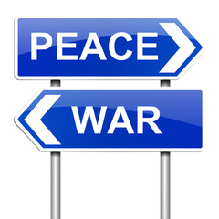 War or peace concept.