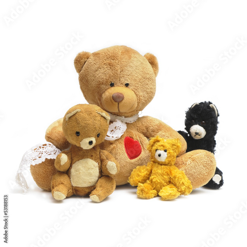 Old toy teddy bears