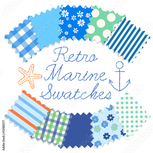 Retro Marine Blue Swatches