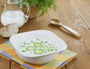 Сold soup with cucumber and yogurt