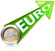 Euro Growth - Positive Green Arrow