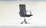 elegant office chair isolated on white
