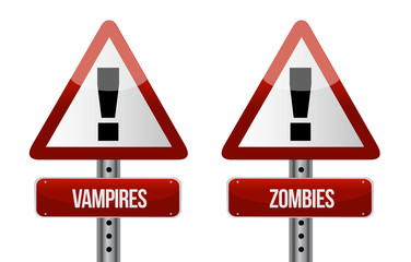 Beware of Vampires and Zombies illustration