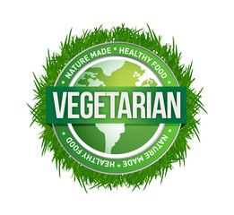 vegetarian green seal illustration design