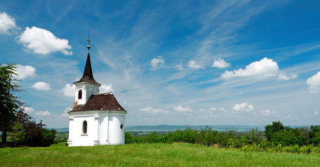 Little chapel in Balatonlelle at Lake Balaton, Hungary