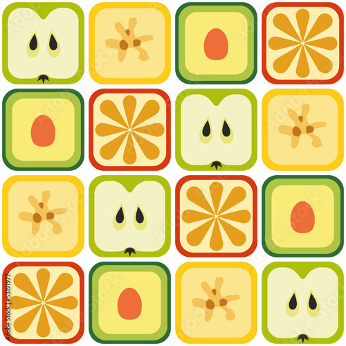 seamless fruits pattern