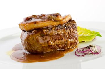 Beef foie gras