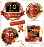 Anniversary retro labels