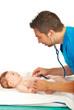 Pediatrician examine baby
